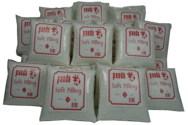 ouate de rembourrage blanche panda 24 sachets de 250 grammes. Black Bedroom Furniture Sets. Home Design Ideas